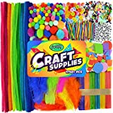Arts & Crafts Supplies for Kids, Back to School Crafting Projects for Preschool Pre K & Kindergarten, Bulk DIY...