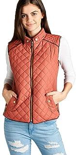 Hollywood Star Fashion Women's Quilted Vest Jacket Coat Sleeveless Padded