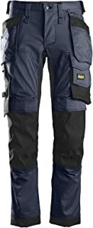 """Snickers 6241 AllroundWork Slim Fit Trousers Holster Pockets Navy 36"""" 30"""""""