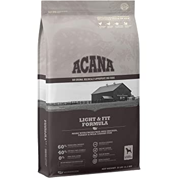 Acana Grain Free Adult Dog Food, Light and Fit to support Healthy Weight, Chicken, Turkey, and Fish