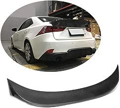 MCARCAR KIT Trunk Spoiler fits Lexus IS IS200t IS250 IS300 IS350 2013-2018 IS F-Sport 2013-2015 Factory Outlet Carbon Fiber CF Rear Boot Lid Duckbill Highkick Wing Lip
