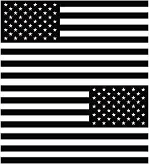 Yoonek Graphics American Flag United States Decal Sticker for Car Window, Laptop, Motorcycle, Walls, Mirror and More. # 816 (4