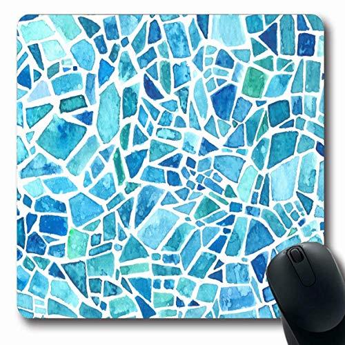 Mauspad Kanten Effekt Mosaik Handgemachte Textur Aquarelle Blau Kaleidoskop Abstrakte Keramik Texturen Blei Büro Maus Matte Mousepad Längliche Schule Computer Rutschfest 25X30Cm S