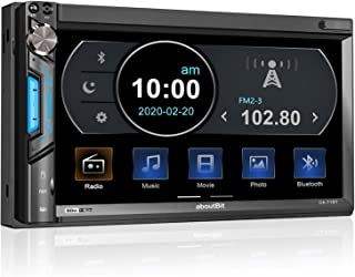 aboutBit Bluetooth Double Din Car Stereo-7 inch HD Touchscreen MP5 Player Car Audio Receiver–Supports Phonelink, Rearview ... photo