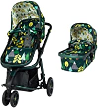 Cosatto Giggle 3 Pram & Pushchair – From Birth to 18kg, Lightweight, Compact, Flat-Fold (Into The Wild)