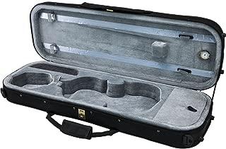SKY 4/4 Violin Oblong Case Lightweight with Hygrometer Black/Grey