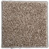 """Smart Squares Easy Street 18"""" x 18"""" Premium Residential Soft Carpet Tiles, Peel and Stick for Easy DIY Installation, Seamless Appearance, Made in USA (10 Tiles - 22.5 Sq Ft, 858 Acorn)"""
