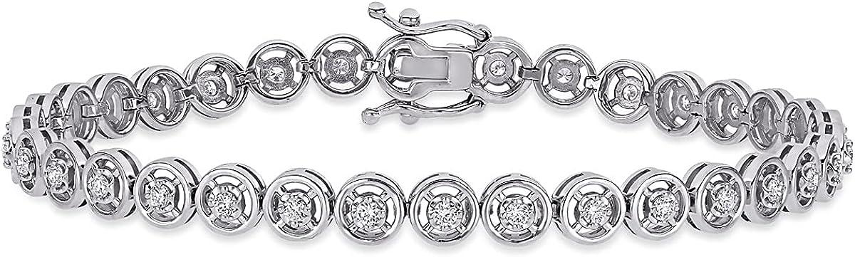 5 8 Carat ctw SI1-SI2 H-I Tennis 14K Bracelet Max 60% OFF Whit in Max 71% OFF Diamond