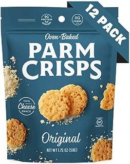 ParmCrisps Original, 1.75 Oz (Pack Of 12), 100% Cheese Crisps, Keto Friendly, Gluten Free
