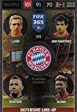 Panini FIFA 365 Adrenalyn XL 2017 - #398 - Multiple Defensive Line-Up: Lahm, Javi Martinez, Boateng, Alaba Bayern München