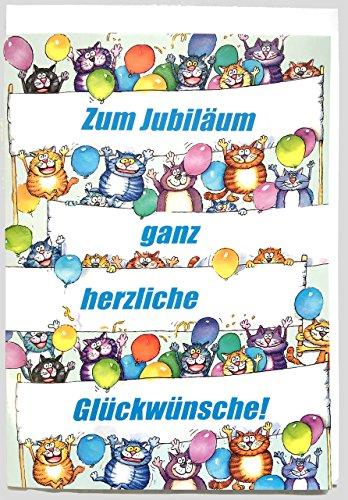 A4 XXL Jubiläumskarte lustig und bunt