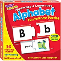 トレンド 英単語 パズル アルファベット 大文字と小文字 Trend Fun to Know Puzzles Alphabet Uppercase & Lowercase T-36010