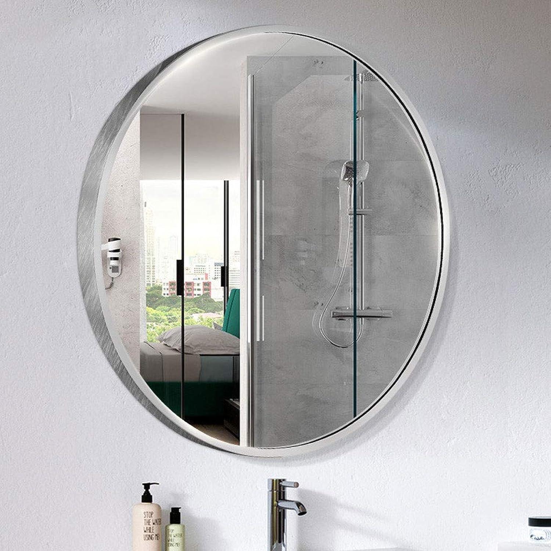 RXY-mirror Nordic Living Room Wall-Mounted Mirror, Bathroom Round Vanity Mirror Decorative Mirror (color   Silver, Size   50CM)