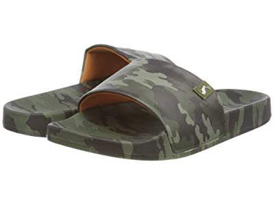 Joules Kids Poolside (Toddler/Little Kid/Big Kid) (Green Camo) Boys Shoes