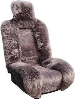 Genuine Sheepskin Seat Covers Lambskin Seat Covers Winter Car Seat Cover Lambs Wool Sheep Skin Fuzzy Seat Cover Shearling ...