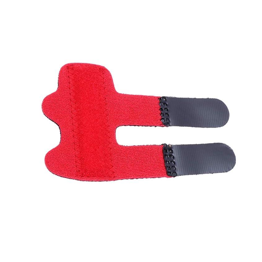 フィヨルド適用済み鈍いHealifty 指の添え木が指の袖を支える親指の添え木ブレースが壊れた指の腱の痛みを和らげます1pc(赤)