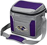 Coleman NFL Soft-Sided Insulated Cooler and Lunch Box Bag, 9-Can Capacity, Baltimore Ravens