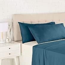 AmazonBasics Light-Weight Microfiber Pillowcases - 2-Pack, King, Dark Teal