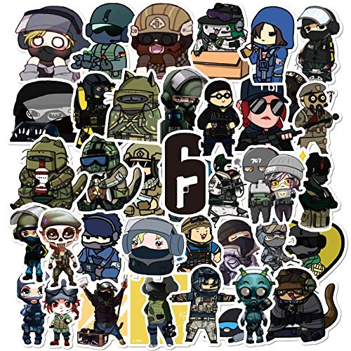 WWLL 49 Pieces of Rainbow Six Graffiti Stickers Waterproof Removable Motorcycle Notebook Scooter Luggage Stickers Wholesale