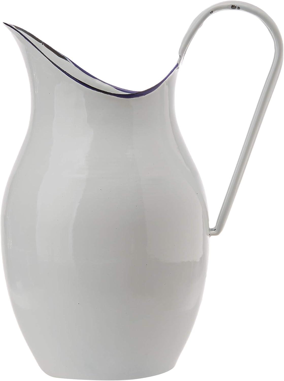 Ibili Jarra Acero esmaltado, Blanco, 38 cm, 640