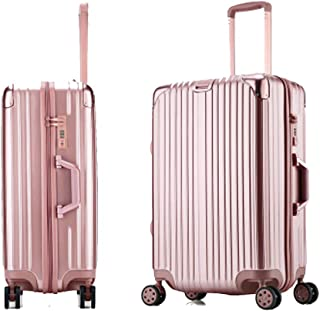 Travel Luggage Waterproof and Wearable Travel case Universal Wheel Suitcase YSZG Aluminum Frame Trolley case Solid Color Suitcase,