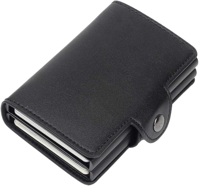 KINTRADE Damen Herren RFID Business Krotitkarteninhaber Geldbörse Kartenhalter Schwarz B07KPC9BFZ