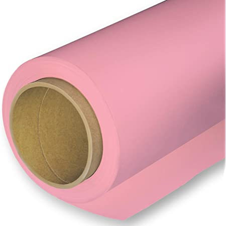 Huamei Seamless Photography Background Paper, Photo Backdrop Paper (8.9x36 Feet, 17 Carnation Pink)