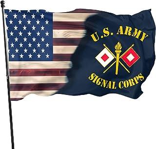LUENSRO American Flag EMS Star of Life EMT Paramedic Medic Flag - Brass Grommets Vivid Color 3x5 Feet Home Decoration,Gard...