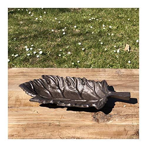 Vogelbad voederschaal schaal blad gietijzer 26 cm x 12 cm
