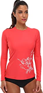 beautyin Womens Long Sleeve Rashguard Swimwear UPF 50+ Rash Guard Athletic Tops