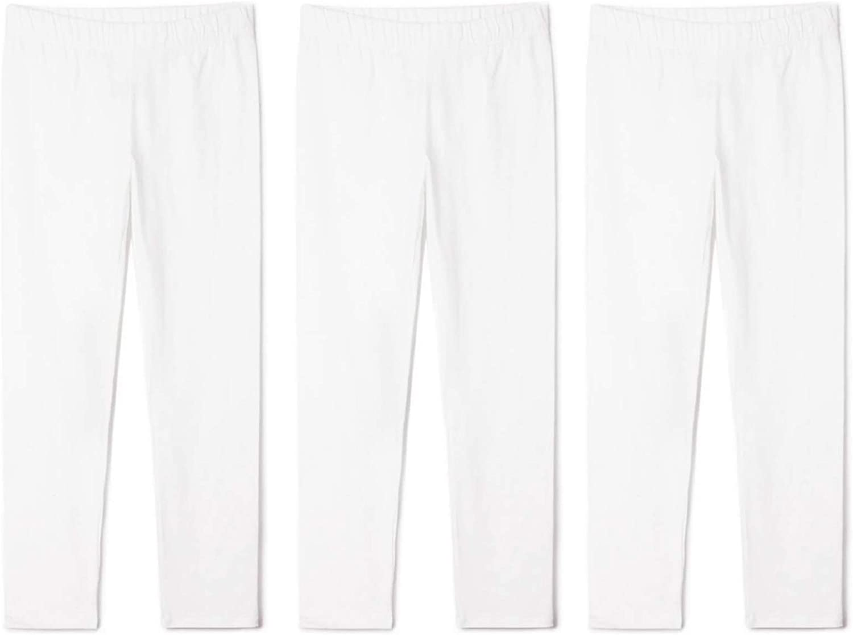 TEGEEK Kids Girls and Baby Basic Comfort Cotton Full Length Leggings Pants