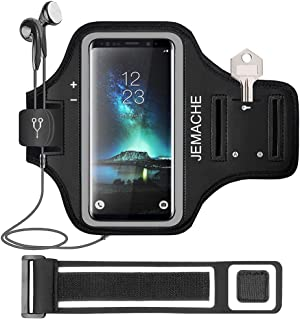 Galaxy S20+ S10+ S9+ S8+ Armband, JEMACHE Gym Running Workouts Arm Band Case for Samsung Galaxy S20 Plus/S10 Plus/S9 Plus/...