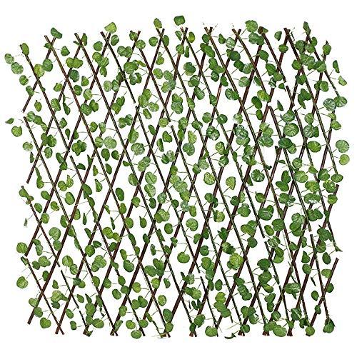 Seto Artificial Gardentrellis, Flor De Seda Extensible Retráctil/Decoración De Valla De Hojas, Pantalla De Sombra De Privacidad para Balcones, Jardín, Patio,A,M