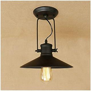 ضوء السقف، مصابيح السقف الرجعية الحديد الصناعي زاوية القابلة للتعديل الثريا، E27 111V ~ 240V، ديكور المنزل غرفة نوم إضاءة ...