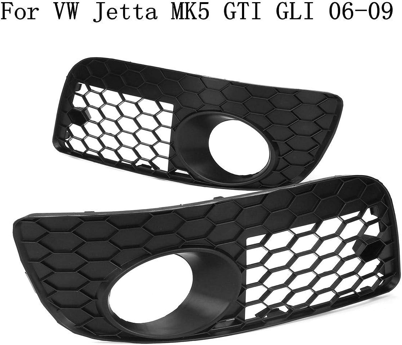 Gift4Car  for Volkswagen for VW Jetta MK5 GTI GLI 20062009 Pair Honeycomb Hex Mesh Fog Light Open Vent GrillesCar Accesorios