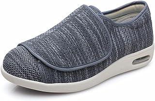 ユニセックスエクストラワイドフィット靴メンズレディース糖尿病靴関節炎浮腫調整可能な閉鎖閉じた靴-h_私44.