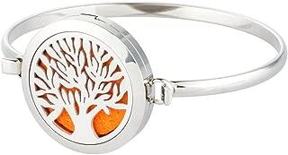 joymiao Essential Oil Diffuser Bracelet,Aromatherapy Jewelry Stainless Steel Locket Bracelets with 8 Color Pads,Girls Women Men Jewelry Gift Set