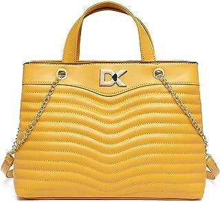 Diana Korr Women Yellow Handbag DK324HMUS