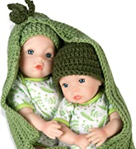 Paradise Galleries Reborn Twin Dolls - Two Peas in a Pod, Magnetic Mouth 16 inch in SoftTouch Vinyl, 9-Piece Doll Gift Set