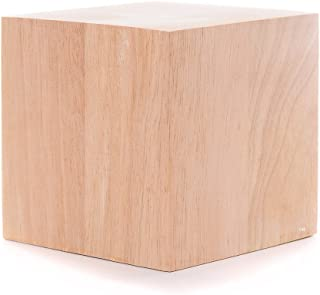 5 Inch Solid Wood Block Cube - 1 Block
