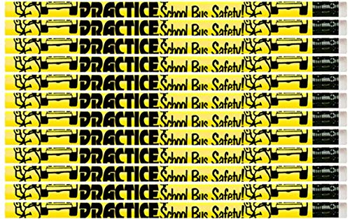D2019 Practice School Bus Safety - 36 Qty Package - School Safety Pencils - Express Pencils