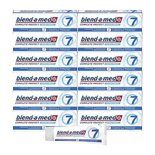 Blend-a-med Complete Protect7 Kristallweiß Zahncreme 75ml, 12er Pack (12 x 75 ml)