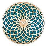 Nextime - Reloj de Pared (Madera, 50 cm), diseño Redondo, Color Turquesa