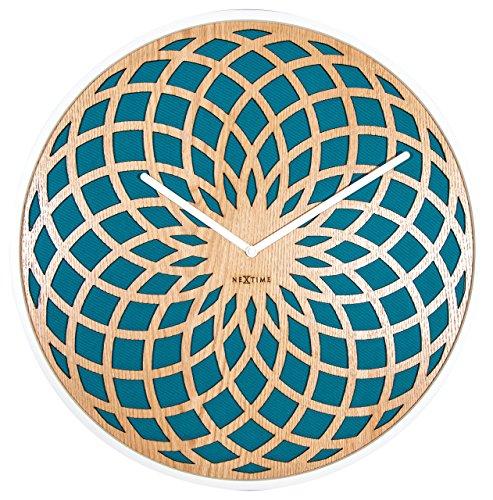 Nextime - Reloj de Pared (Madera, 50 cm), diseño Redondo,...