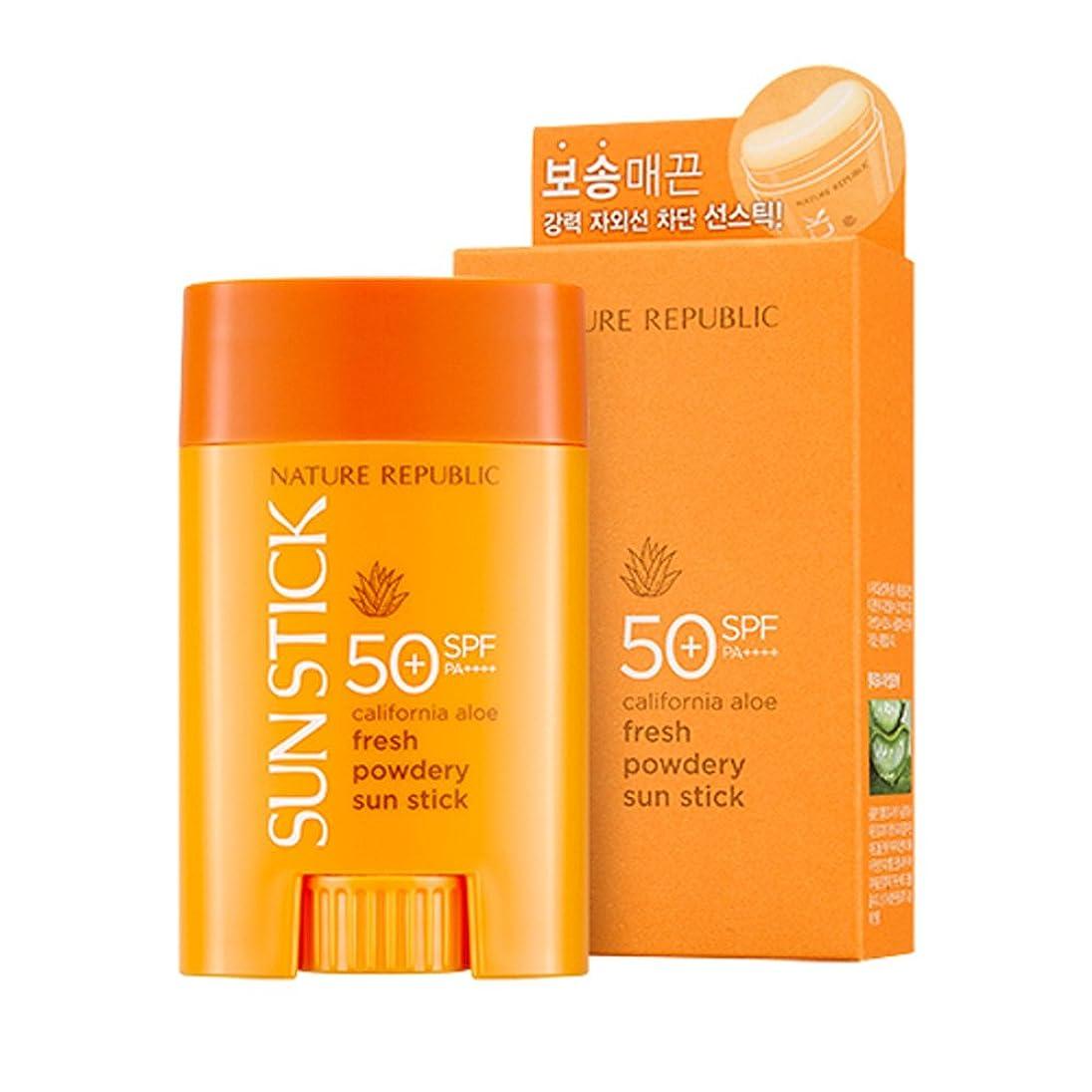 予想外誘惑ティッシュNature Republic California Aloe Fresh Powdery Sun Stick SPF50+ PA++++ 22g / 0.77 oz. ネイチャーリパブリック カリフォルニア アロエ フレッシュ パウダリ サン スティック [並行輸入品]