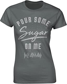 Def Leppard 'Pour Some Sugar On Me' Womens Fitted T-Shirt