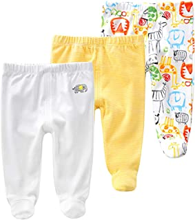 Baby Leggings for Baby Boys /& Baby Girls Alike Footed Joggers Teddley/'s Signature Col 100/% Cotton Unisex Trousers 100/% GOTS Organic Certified Baby Pants