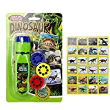 Home-nicer Torch Projector Slides Projector Torch Projection Light Torches lamp Flashlight Educational Learning Bedtime Night Light Study Learning Fun Toys for Baby Toddlers (Dinosaur World)