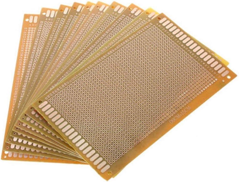Royalr 10pcs//Set Printed PCB Circuit Board DIY Soldering PCB stripboard Printed PCB Plate Strip Breadboard Electronic Stripboard