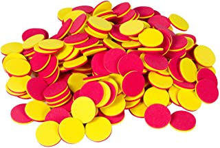 hand2mind Foam Two-Color Counters with Storage Tub for Counting and Tokens (Pack of 200)